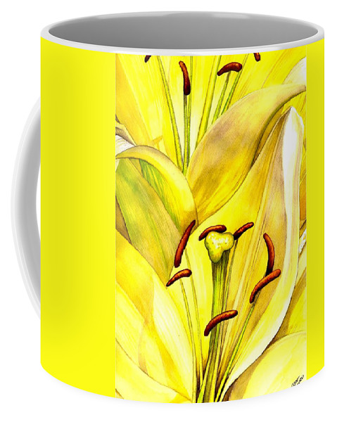 Lily Coffee Mug featuring the painting Daylily by Catherine G McElroy