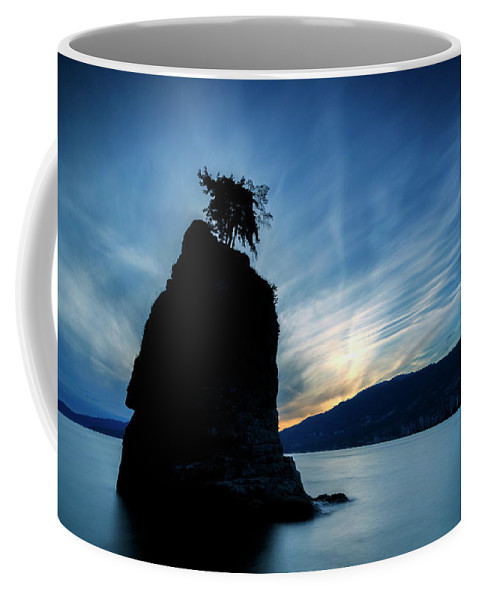 Sunset Coffee Mug featuring the photograph Day's End At Siwash Rock by Stephen Stookey
