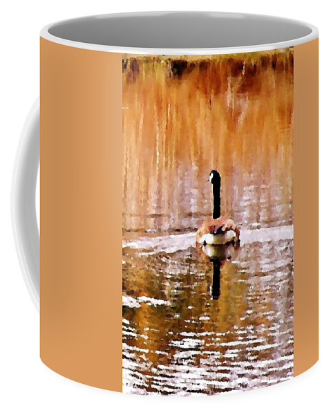 Goose Coffee Mug featuring the photograph An Idyllic Day's End by Kim Bemis