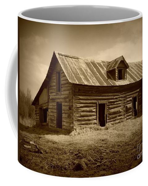 Cabin Coffee Mug featuring the photograph Days Gone By by Rick Monyahan