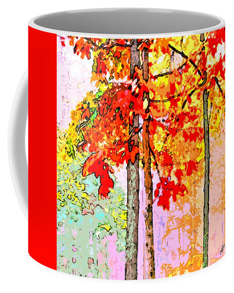 Abstract Coffee Mug featuring the digital art Daytime Diversity by Linda Mears