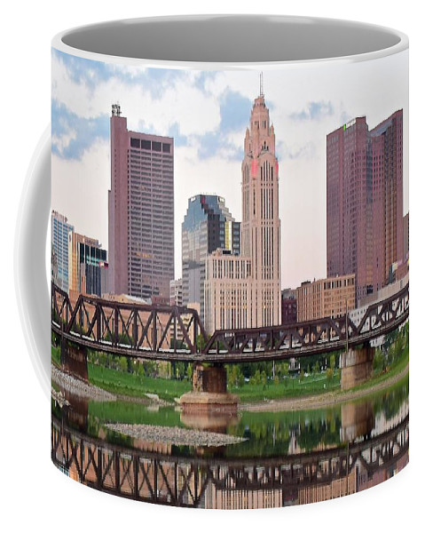 Columbus Coffee Mug featuring the photograph Daytime View Of Columbus Over The Scioto by Frozen in Time Fine Art Photography