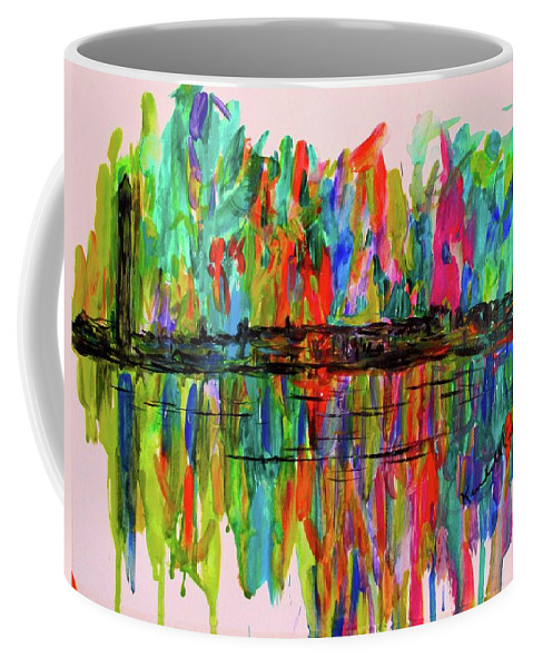 Washington Dc Paintings For Sale Coffee Mug featuring the painting Dc Burst by Kendall Kessler