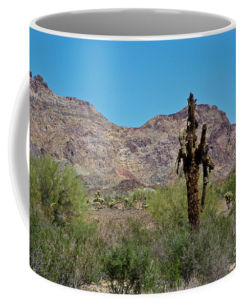 Arizona Coffee Mug featuring the photograph Dead but Not Fallen by Kathy McClure
