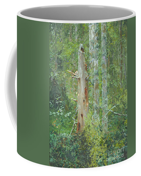 Old Tree Coffee Mug featuring the painting Dead Tree by Simon Kozhin