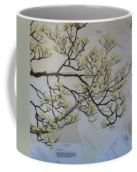 Collage Coffee Mug featuring the painting Dear Artist by Leah Tomaino