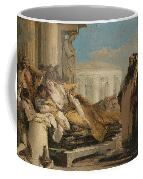 Italian Artist Coffee Mug featuring the painting Death Of Dido by Giovanni Battista Tiepolo