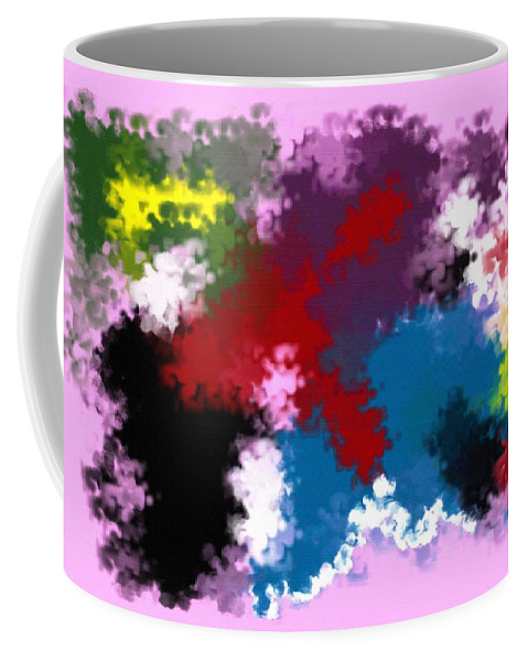 Abstract Coffee Mug featuring the digital art Death Of Discrimination by Donna Blackhall