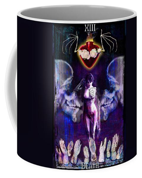 Divine Coffee Mug featuring the digital art Death by Tammy Wetzel