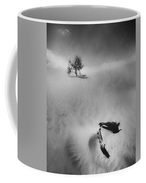 Black And White Coffee Mug featuring the photograph Death Valley 1990 by Scott Norris