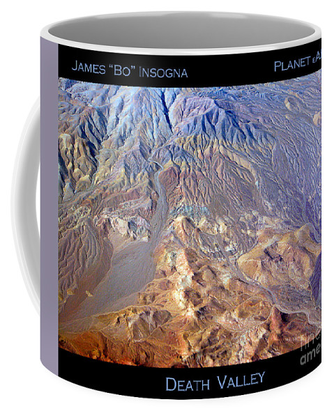 Aerial Coffee Mug featuring the photograph Death Valley Planet Earth by James BO Insogna
