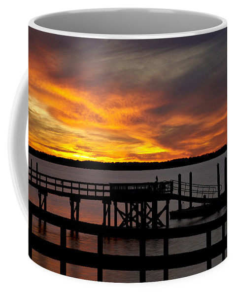 Sunset Coffee Mug featuring the photograph December Sunset by Phill Doherty