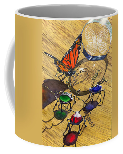 Bug Coffee Mug featuring the painting Deception by Catherine G McElroy