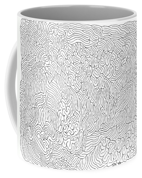 Mazes Coffee Mug featuring the drawing Deception by Steven Natanson