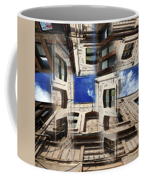 Abstract Coffee Mug featuring the photograph Deception by Wayne Sherriff