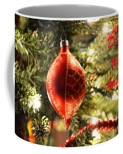 Greeting Card Coffee Mug featuring the photograph Deck The Halls by Lisa Kilby