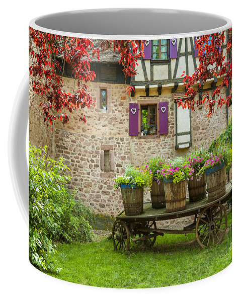 Alsace Coffee Mug featuring the photograph Half-timbered House, Riquewihr, Alsace,france by Marco Arduino