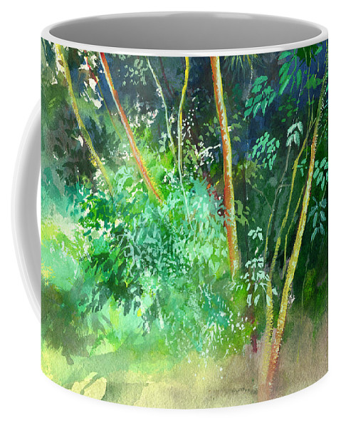 Water Color Coffee Mug featuring the painting Deep by Anil Nene