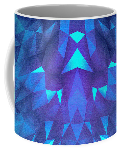 Deep Blue Collosal Low Poly Triangle Pattern Modern Abstract Cubism Design Coffee Mug For Sale By Philipp Rietz