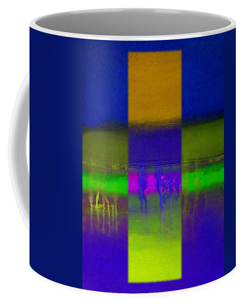 Landscape Coffee Mug featuring the painting Deep Blue Landscape by Charles Stuart