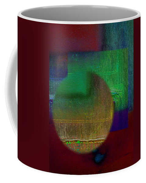 Landscape Coffee Mug featuring the painting Deep Geometry by Charles Stuart
