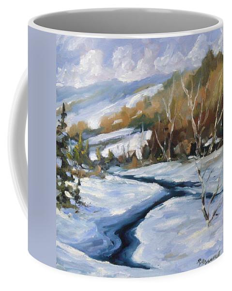Art Coffee Mug featuring the painting Deep Snow by Richard T Pranke