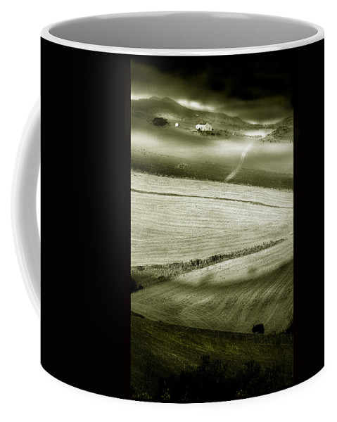 Landscape Coffee Mug featuring the photograph Deepening Shadows by Mal Bray
