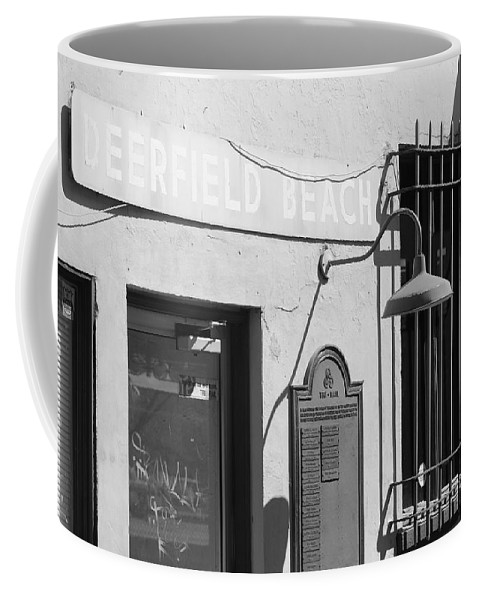 Train Station Coffee Mug featuring the photograph Deerfield Beach Train Station by Rob Hans