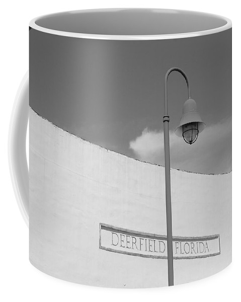 Black And White Coffee Mug featuring the photograph Deerfield Florida by Rob Hans