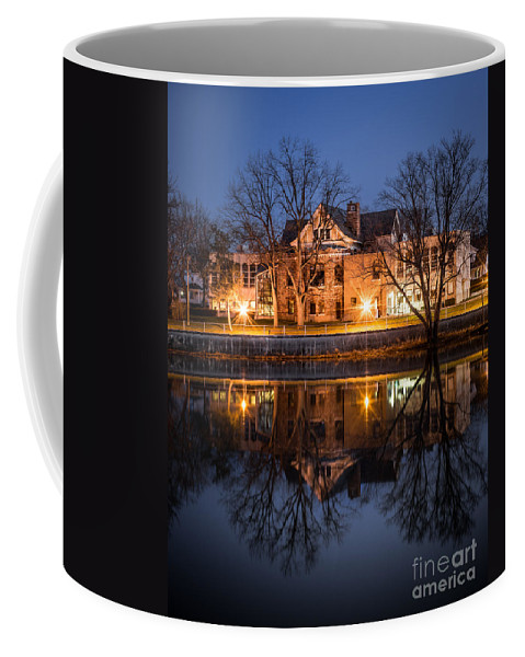 Defiance Coffee Mug featuring the photograph Defiance Ohio Library by Michael Arend