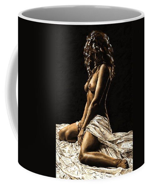Nude Coffee Mug featuring the painting Defiance by Richard Young