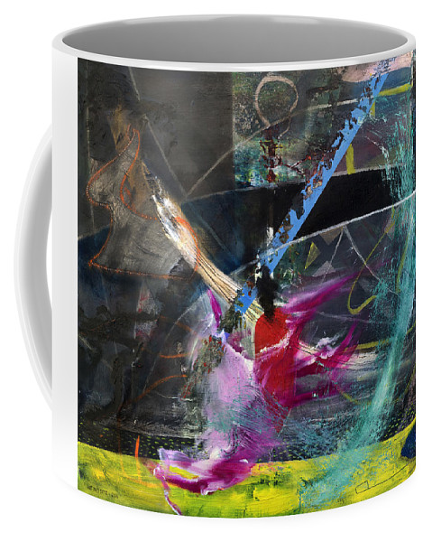 Abstract Art Coffee Mug featuring the painting Degenerate Art by Antonio Ortiz