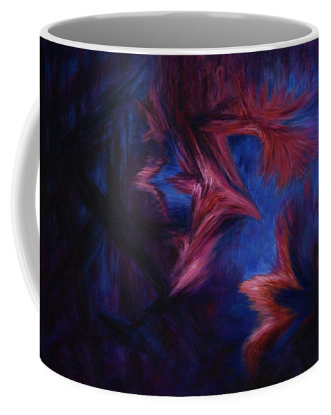 Abstract Coffee Mug featuring the painting Deja Vu by Rachel Christine Nowicki