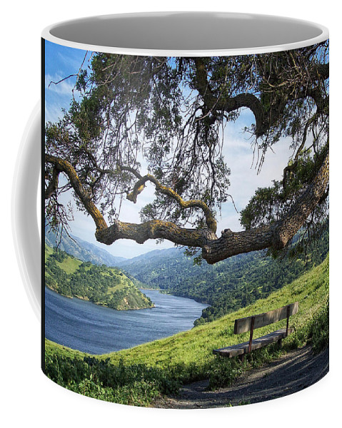 California Coffee Mug featuring the photograph Del Valle Reservoir by Donna Blackhall