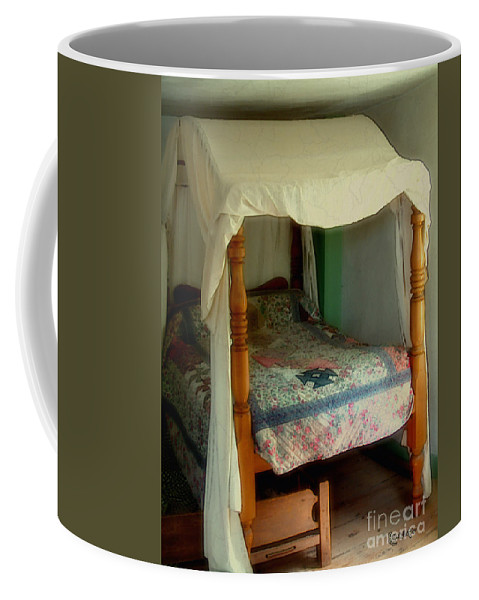 Bed Coffee Mug featuring the painting Delft Light, New England by RC deWinter