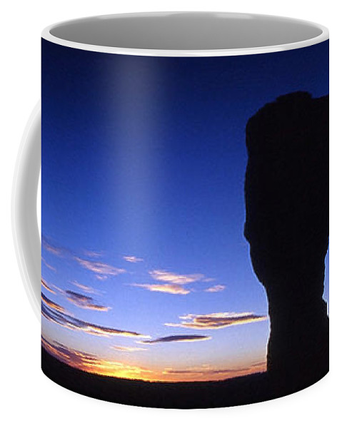 Delicate Arch Coffee Mug featuring the photograph Delicate Arch At Dusk Panoramic by Sven Brogren