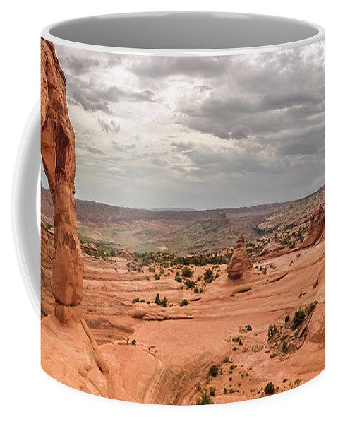 3scape Coffee Mug featuring the photograph Delicate Arch Panoramic by Adam Romanowicz