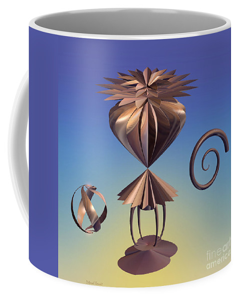 Incendia Coffee Mug featuring the mixed media Delicate Balance by Deborah Benoit