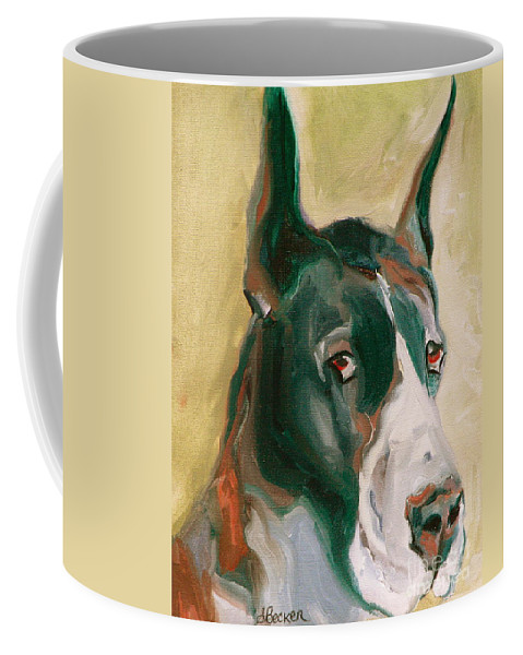 Greeting Cards Coffee Mug featuring the painting Delicious Dane by Susan A Becker