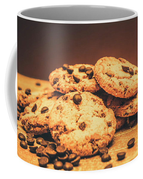 Food Coffee Mug featuring the photograph Delicious Sweet Baked Biscuits by Jorgo Photography - Wall Art Gallery