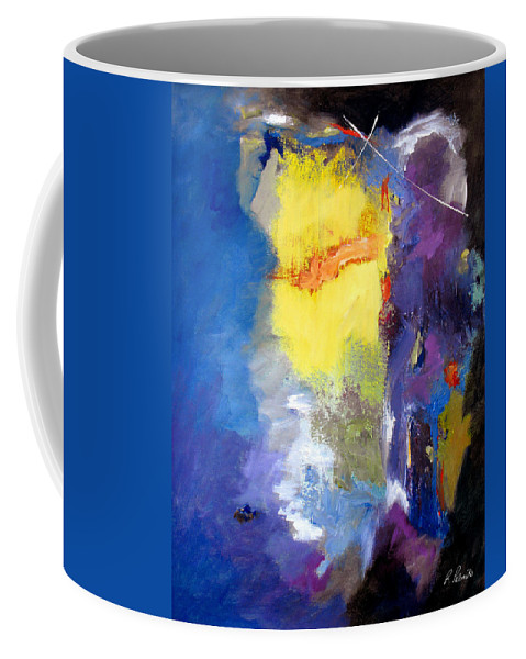 Abstract Coffee Mug featuring the painting Delightful Inheritance by Ruth Palmer