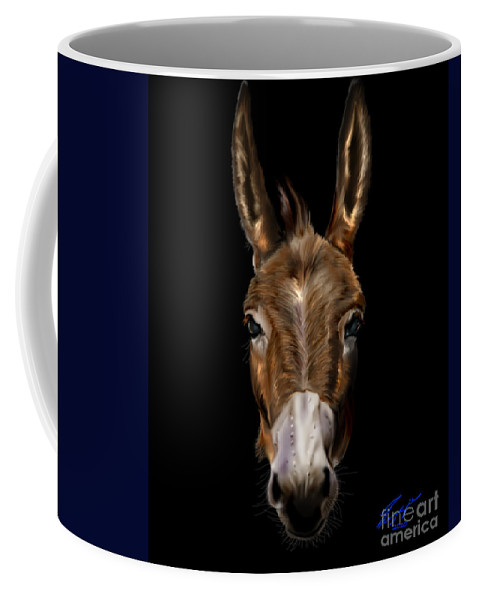 Horse Coffee Mug featuring the painting Dem-donkey by Reggie Duffie