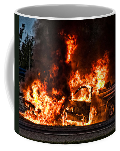 Fire Coffee Mug featuring the photograph Demon Released by Christopher Holmes