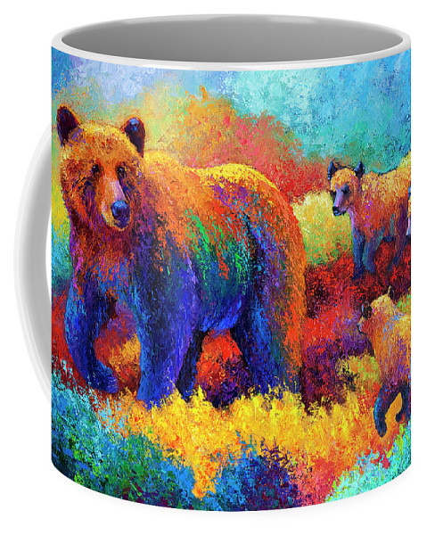 Bear Bears Coffee Mug featuring the painting Denali Family by Marion Rose