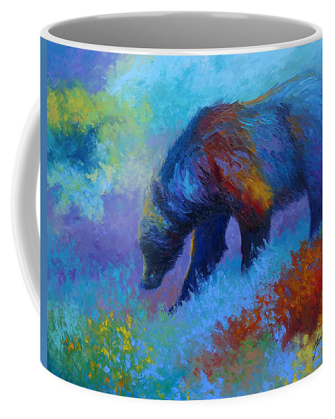 Western Coffee Mug featuring the painting Denali Grizzly Bear by Marion Rose