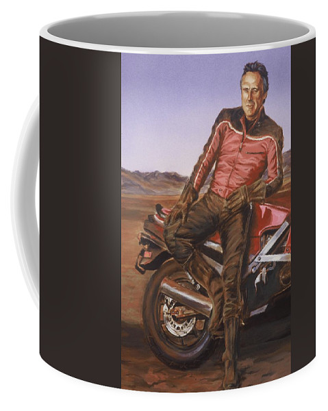 Dennis Hopper Coffee Mug featuring the painting Dennis Hopper by Bryan Bustard