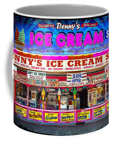 Ice Cream Coffee Mug featuring the photograph Dennys Ice Cream Shop by Chris Lord