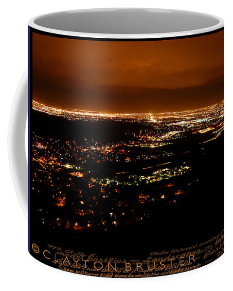 Clay Coffee Mug featuring the photograph Denver Area At Night From Lookout Mountain by Clayton Bruster