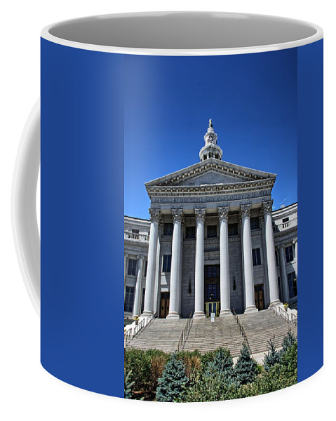 Court Coffee Mug featuring the photograph Denver, Colorado Courthouse by Timothy Ruf