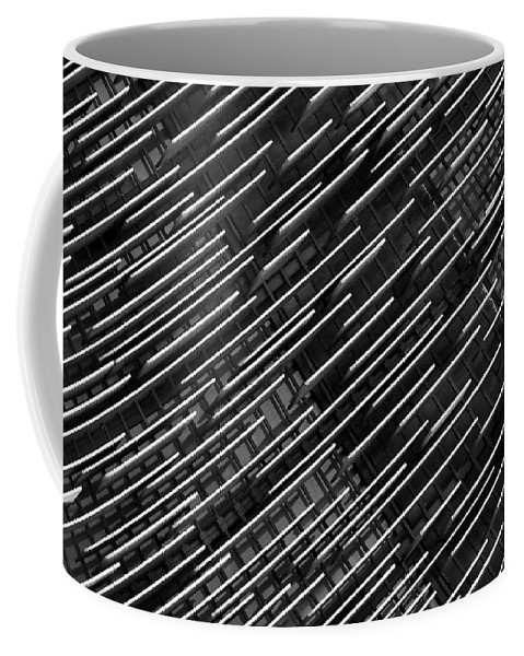 Abstract Architectural Photography Coffee Mug featuring the photograph Denver Seven - Downtown - July 2016 by Les Goldberg